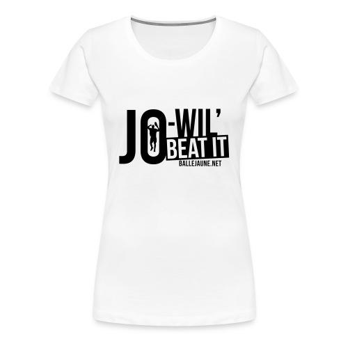 Jo-Wil' Tsonga Beat it T-shirt femme (floc1c) - T-shirt Premium Femme