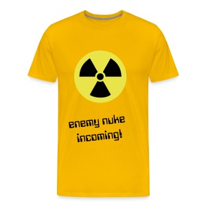 enemy nuke incoming - Mannen Premium T-shirt