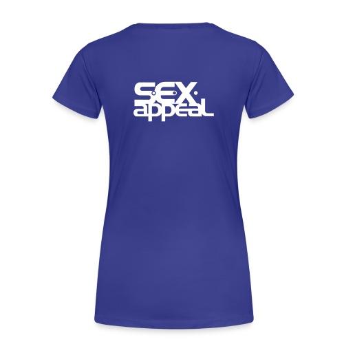 Girlie Shirt mit Flügelherz und S.e.x.appeal Logo - Frauen Premium T-Shirt