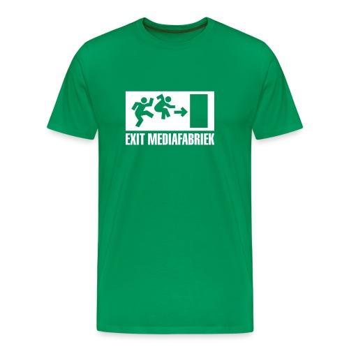 Exit Mediafabriek Logo Groen (collectors item) - Mannen Premium T-shirt