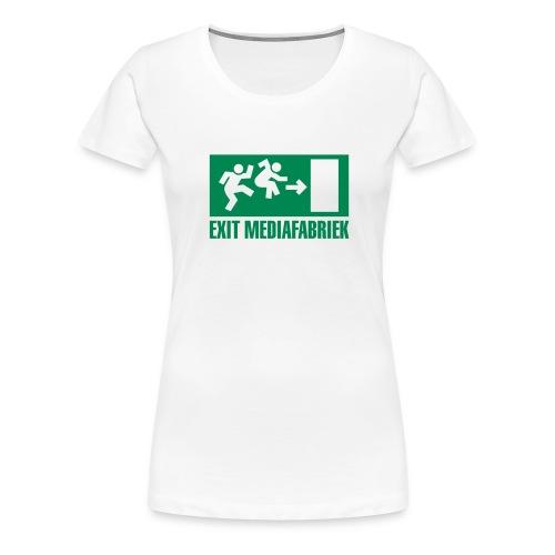 Exit Mediafabriek Logo Wit (collectors item) - Vrouwen Premium T-shirt
