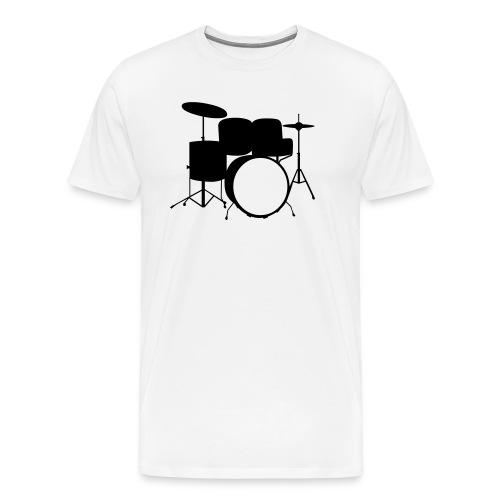DrumKit - WHT - Male - Men's Premium T-Shirt