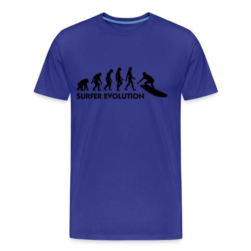 surfing evolution  - Men's Premium T-Shirt