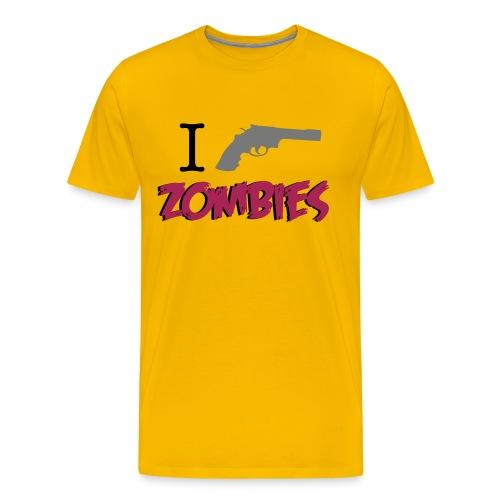 camiseta walking dead - i gun zombies - chico manga corta - Camiseta premium hombre