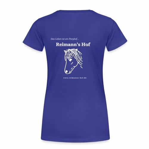 Damen T-Shirt Reimann's Hof -Ponykopf- - Frauen Premium T-Shirt