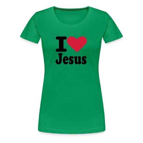 Retropaita I love Jesus - Naisten premium t-paita