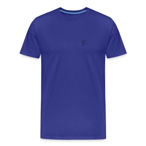 Einfaches Shirt mit JG-Logo in dezentem Schwarz. - Männer Premium T-Shirt
