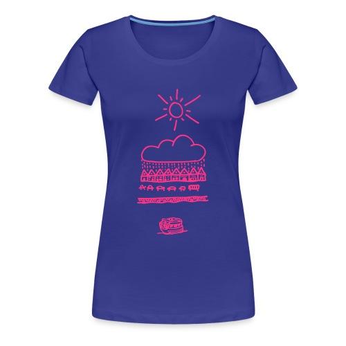 Allti sol på bryggen - Premium T-skjorte for kvinner