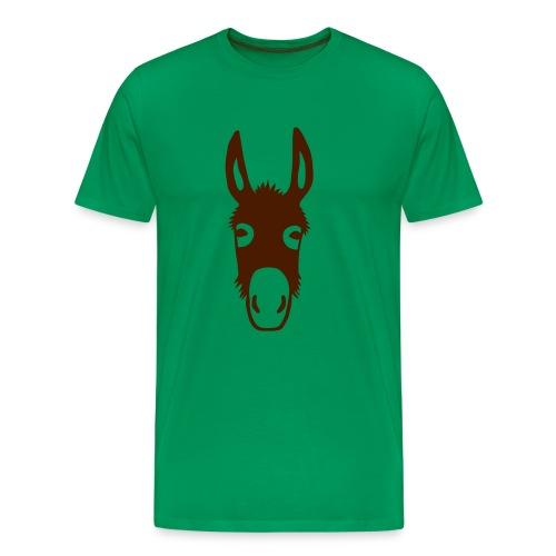 Shirt Kapuzenpullover Esel Donkey Maultier Pferd Tiershirt Shirt Tiermotiv - Männer Premium T-Shirt