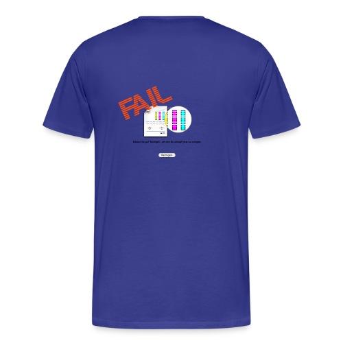 Druckkopf back - Männer Premium T-Shirt