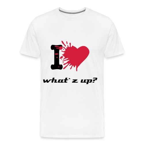 I love what`z up? - Premium-T-shirt herr