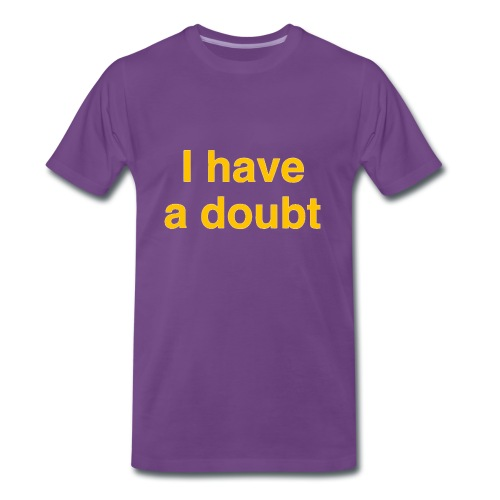 I have a doubt - indigo/yellow - Männer Premium T-Shirt