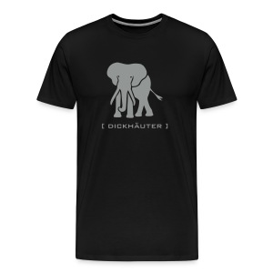 Shirt Elefant Dickhäuter Elephant Rüssel Tier Tiershirt Shirt Tiermotiv - Männer Premium T-Shirt