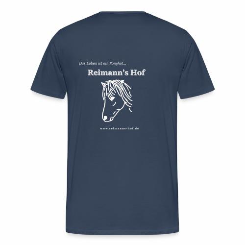 Herren T-Shirt gross -Ponykopf- - Männer Premium T-Shirt
