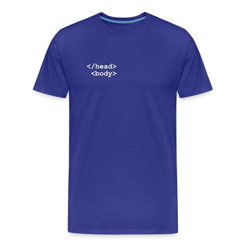 HTML - Premium-T-shirt herr