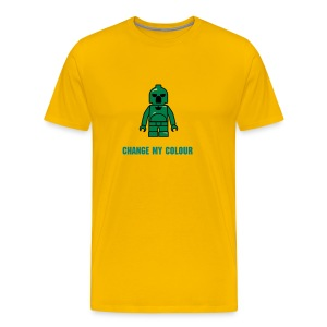 Green Plastic Toy Space Soldier - Men's Premium T-Shirt