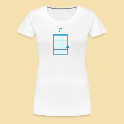Girlieshirt:C-Dur (Motiv: Blue) - Frauen Premium T-Shirt