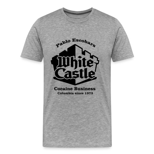 Pablo Escobar White Castle - Shirt Schwarz - Männer Premium T-Shirt