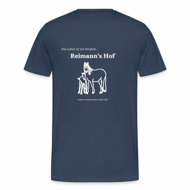Herren T-Shirt gross -Stute mit Fohlen-