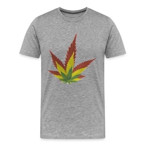 Cannabis Leafs 3D - Shirt   - Männer Premium T-Shirt