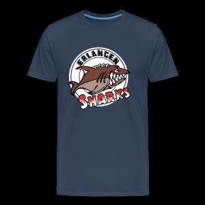 Logo auf navy Übergrößen-T-Shirt (m) - Männer Premium T-Shirt