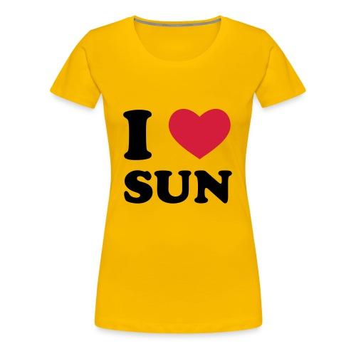 I LOVE SUN - Maglietta Premium da donna