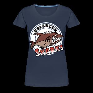 Logo auf navy Übergrößen-T-Shirt (w) - Frauen Premium T-Shirt