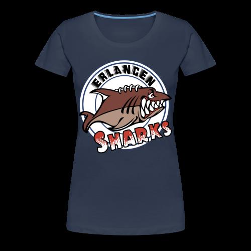 Erlangen Sharks Color Premium T-Shirt (w, navy) - Frauen Premium T-Shirt