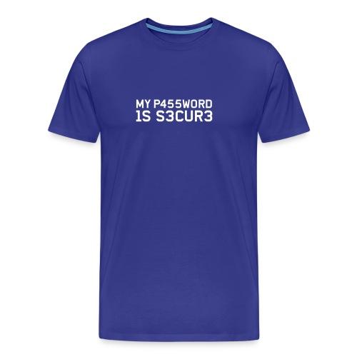 My Password is secure (Block) - Men's Premium T-Shirt