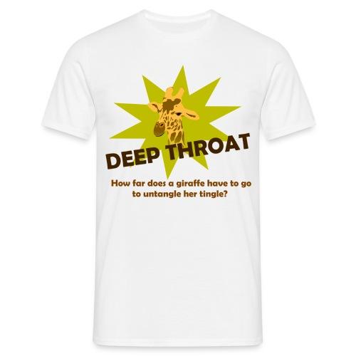 Funny T-shirt Deep throat - Mannen T-shirt