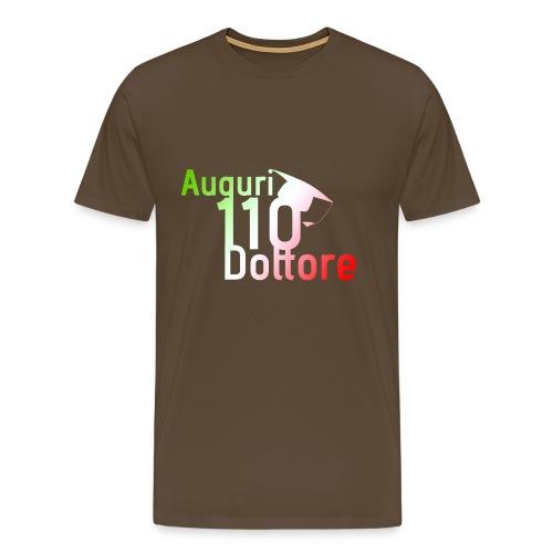 Auguri Dottore 110 e Tricolore - Maglietta Premium da uomo