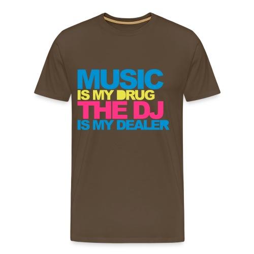 Mannenshirt 'Music is my drug' - Mannen Premium T-shirt