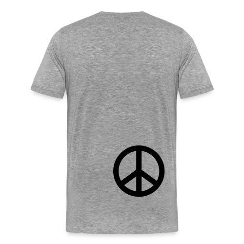 Peace (selkä) - Miesten premium t-paita
