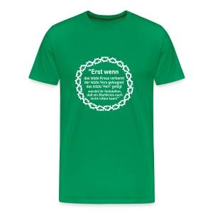 Shirt Weissagung weißer Druck (Farbwahl) - Männer Premium T-Shirt
