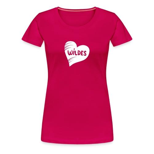Damen Shirt Herz Liebe Wild Wildes Herz weiss - Frauen Premium T-Shirt