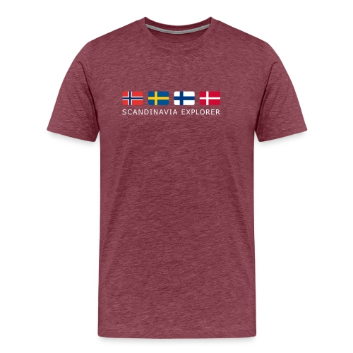 Classic T-Shirt SCANDINAVIA EXPLORER white-lettered  - Men's Premium T-Shirt
