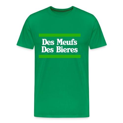 Des Meufs des bieres homme - T-shirt Premium Homme