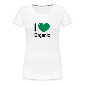 I love Organic Girlie Shirt - Frauen Premium T-Shirt