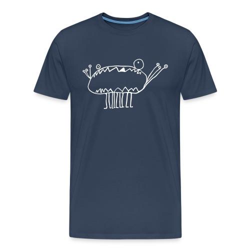 Huge Blue Monster - Men's Premium T-Shirt