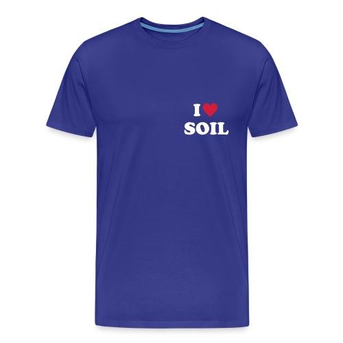 T-Shirt YPSS I love Soil, Brust und Rücken - Männer Premium T-Shirt
