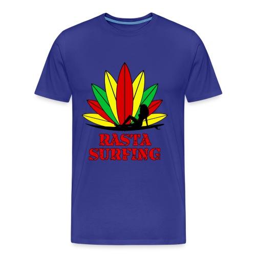 Rasta Surfing t-shirt - Men's Premium T-Shirt