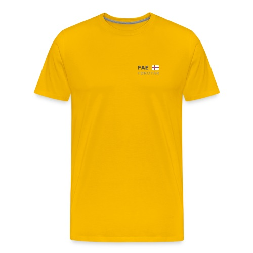 Classic T-Shirt FAE FØROYAR dark-lettered - Men's Premium T-Shirt