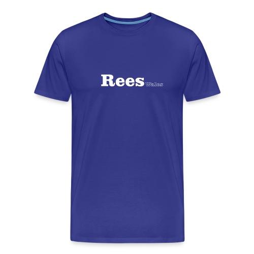 Rees Wales white text - Men's Premium T-Shirt