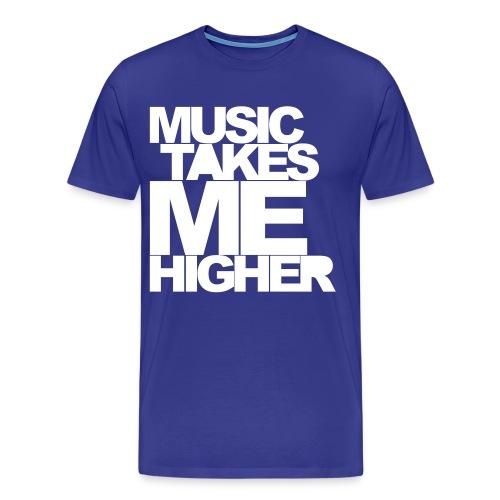 Music Takes me higer ! - Koszulka męska Premium