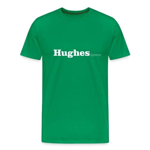 Hughes Cymru white text - Men's Premium T-Shirt