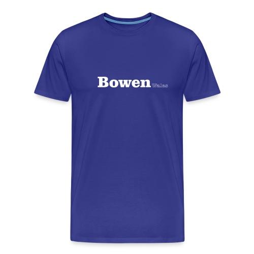 Bowen Wales white text - Men's Premium T-Shirt