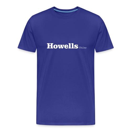 Howells Wales white text - Men's Premium T-Shirt