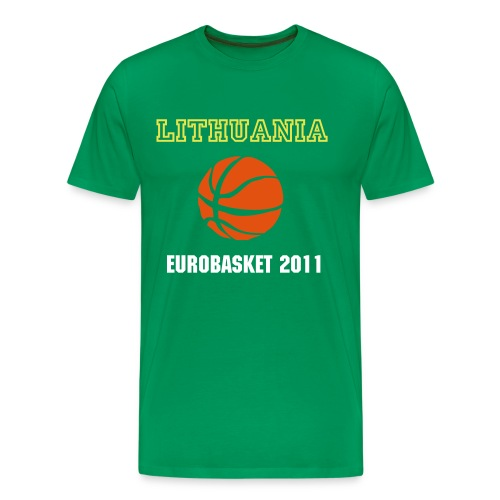 Lithuania EuroBasket 2011 Basic Green T-Shirt - Men's Premium T-Shirt