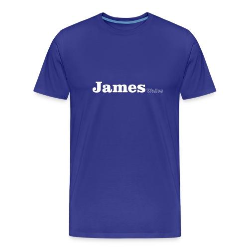 James Wales white text - Men's Premium T-Shirt