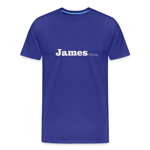 James Wales white text - Men's Premium T-Shirt